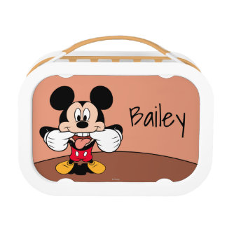 Modern Mickey   Sticking Out Tongue - Personalized Lunch Box