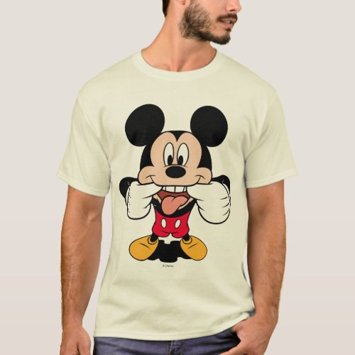 Modern Mickey  Sticking Out Tongue T_Shirt