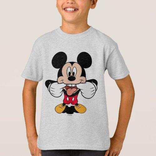 Modern Mickey  Sticking Out Tongue T_Shirt
