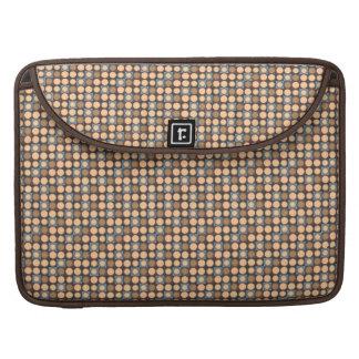 Modern Micro Polka Dot Pattern Tan Brown MacBook Pro Sleeves