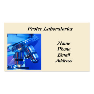 Modern Microscope for Medicine and Research Business Card Template