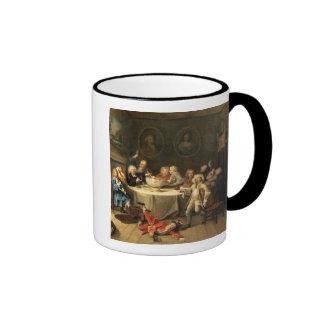 Modern Midnight Conversation Ringer Coffee Mug