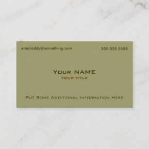 modern military green business card - Military Business Cards