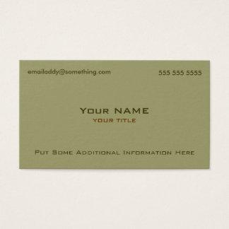 Modern Military Green Business Card