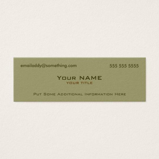 Modern military green mini business card zazzle modern military green mini business card colourmoves
