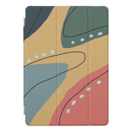 Modern minimal abstract geometric autumn pattern iPad pro cover