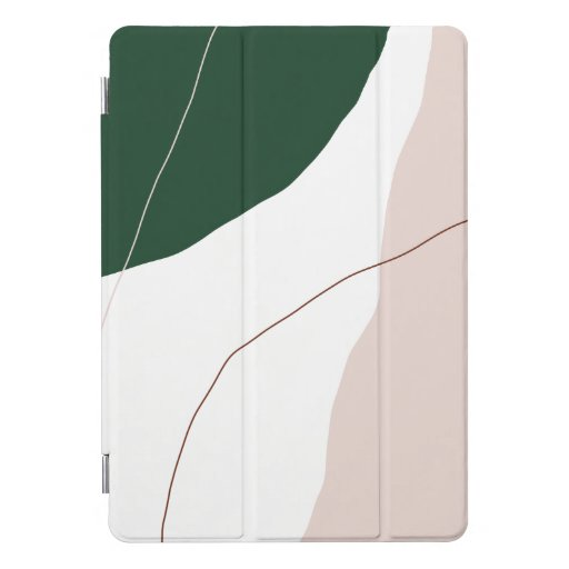 Modern minimal abstract geometric pastel colors iPad pro cover