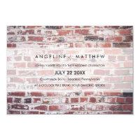 Modern & Minimal Bricks wedding Invite