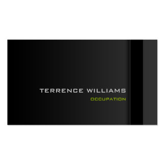 Modern minimal business card template Black Green