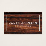 "MODERN &amp; MINIMAL DARK WOOD - CONSTRUCTION BUSINESS CARD<br><div class=""desc"">MODERN &amp; MINIMAL PROFESSIONAL BUSINESS CARD - PRINTED DARK CHERRY WOOD PHOTO EFFECT - CONSTRUCTION - ARCHITECT . CoutureBusiness &#169; at Zazzle. Elegant, simple, professional customizable business cards with modern, plain white font style text on a printed photo effect of wooden surface background. The plain sample text is shown for...</div>"