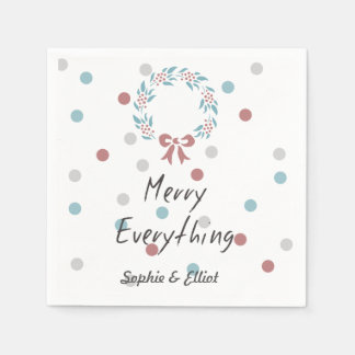 Modern & Minimal Dotted Holiday paper Napkin