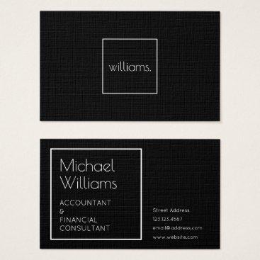 Professional Business Modern minimal elegance black elite business card