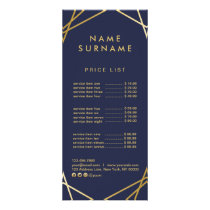 Modern Minimal Gold Geometric Marketing RackCard Rack Card