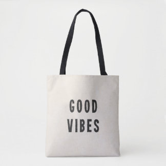 Modern Minimal Good Vibes Summer Festival Tote Bag