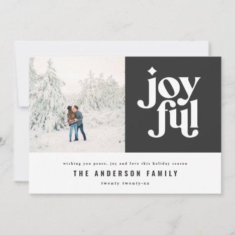 Modern minimal joyful typography photo holiday