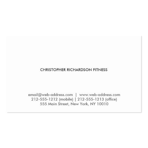 MODERN & MINIMAL No. 4 Business Card (back side)