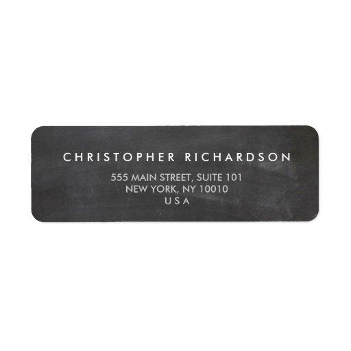 MODERN & MINIMAL on BLACK CHALKBOARD Address Label