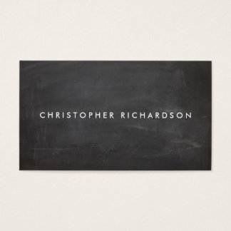 MODERN & MINIMAL on BLACK CHALKBOARD Business Card