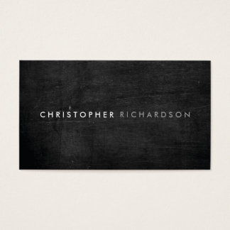 MODERN & MINIMAL on BLACK WOOD II Business Card