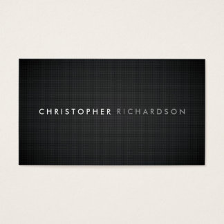 MODERN & MINIMAL on CARBON FIBER Business Card
