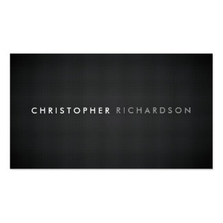 MODERN & MINIMAL on CARBON FIBER Double-Sided Standard Business Cards (Pack Of 100)