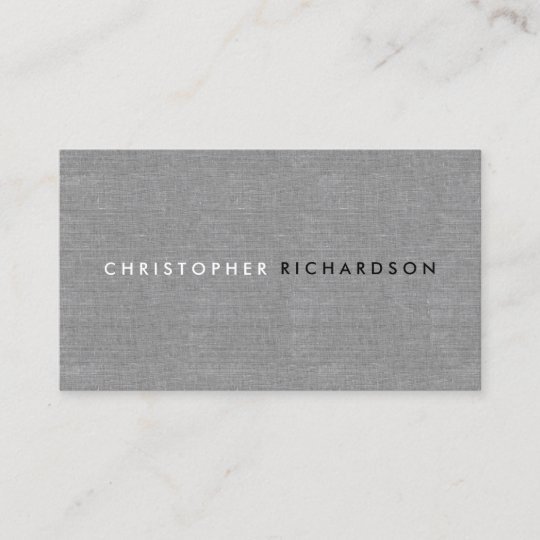 Modern minimal on gray linen business card zazzle modern minimal on gray linen business card reheart Image collections