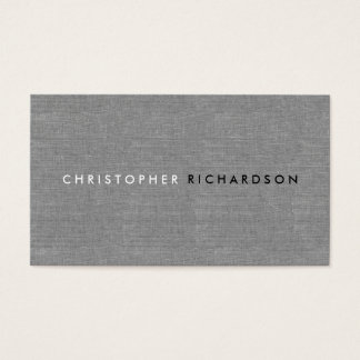 MODERN & MINIMAL on GRAY LINEN Business Card