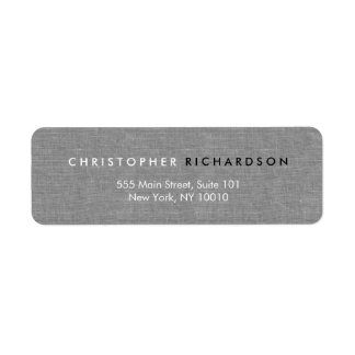MODERN & MINIMAL on GRAY LINEN Label