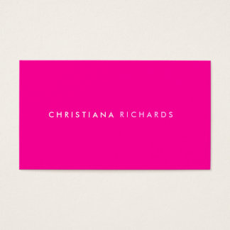 MODERN & MINIMAL PINK Business Card