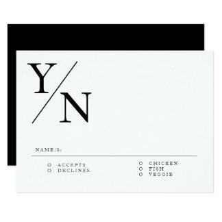 Modern & Minimal RSVP Card