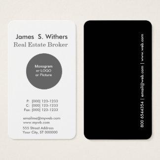 Modern Minimal Simple Round Logo Professional Business Card