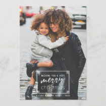 Modern & Minimal Very Merry Christmas Photo Holiday Card