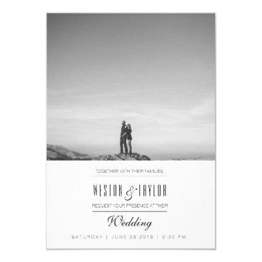 RedefinedDesigns Modern & Minimal Wedding Photo Invite
