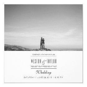 Modern & Minimal Wedding Photo Invite