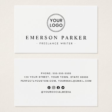 Modern minimal white or any color business cards