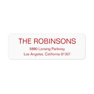 Modern Minimalist Address Label Labels
