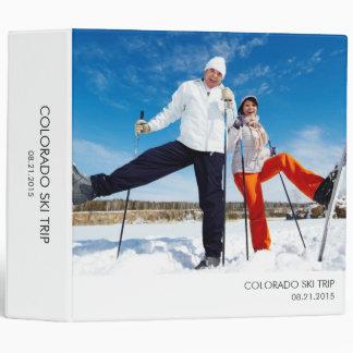 Modern Minimalist All Purpose Photo Album - White 3 Ring Binder