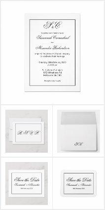 Modern Minimalist Black and White Wedding