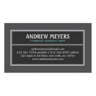 Modern Minimalist Black Consultant Business Card