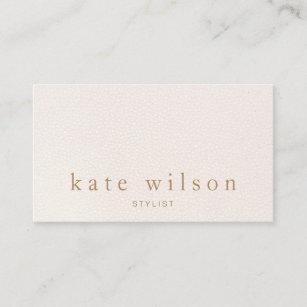 dce25fa36d Modern Minimalist Blush Pink Leather Professional Business Card