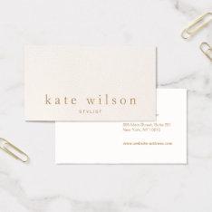 Modern Minimalist Blush Pink Leather Professional Business Card at Zazzle