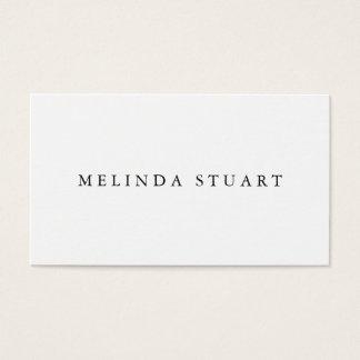 Modern Minimalist Chic Black and White Business Card