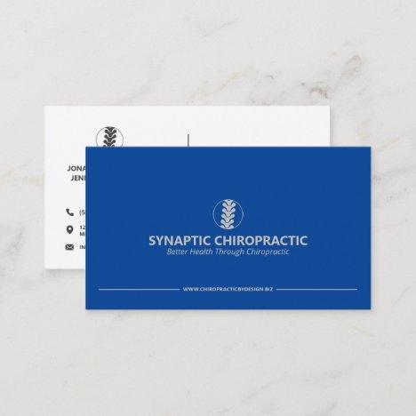 Modern Minimalist Chiropractor Business Cards