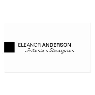 Modern Minimalist Classic Elegant Professional Double-Sided Standard Business Cards (Pack Of 100)