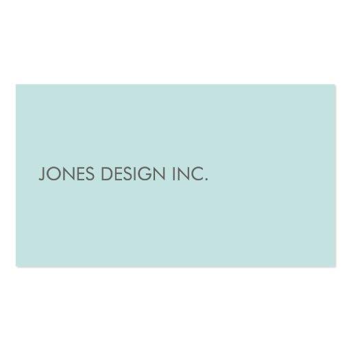 Modern Minimalist Cool Blue Business Card