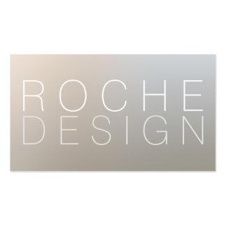 Modern Minimalist Designer Luminous Silver Business Card