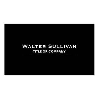 Modern minimalist elegant black professional business card