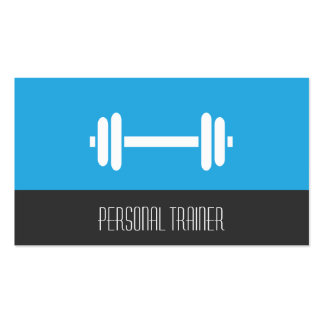 Modern Minimalist Fitness Personal Trainer Weights Business Card
