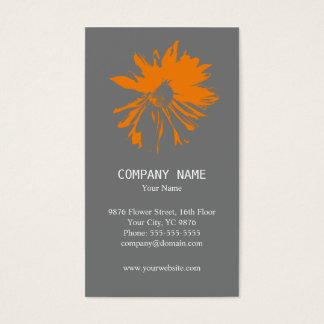 Modern Minimalist Flower Business Card
