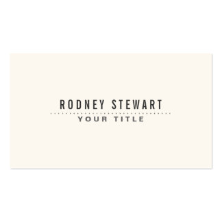 Modern minimalist generic off-white Double-Sided standard business cards (Pack of 100)